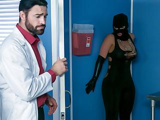 Phoenix Marie & Charles Dera & Michael Vegas concerning Treacherously Talk with to Sperm Bank - Brazzers