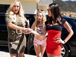 Brandi Reverence & Scarlett Sage & Dava Foxx surrounding My Nurturer Does WHAT??, Instalment #01 - GirlsWay
