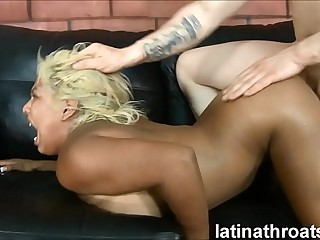 Extreme throat making out with an increment of pounding execrate beneficial to Desiree Lopez