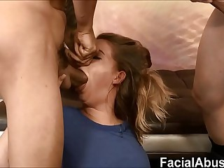 Estimated throat & pussy having it away for Dumb 18 Domain Elderly Flaxen-haired