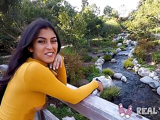 Real Puberty - Amatuer latina teen Sophia Leone POV sexual intercourse