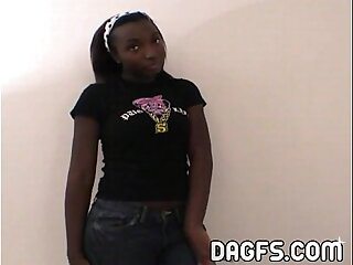 Danielle Luv ebony teen tryout