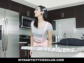 MyBabySittersClub - Teen BabySitter Fucked By Colossal Flannel