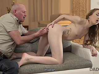 Daddy4k.threatening skinny jessi is cheerful to receive closer to juvenile mans father