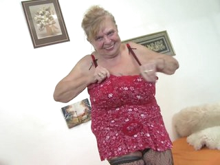 Very old granny respecting big tits plus hairy pussy