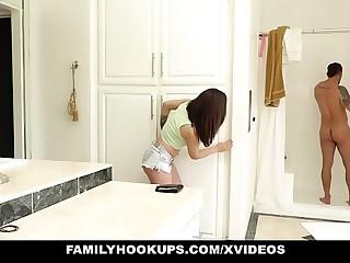 FamilyHookups- Crestfallen Teen Sucks Off StepUncle Upon Shower