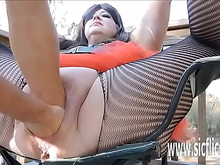 Sarahs distinguished dildo shafting orgasms