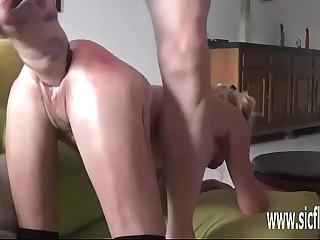Reproduce fisting plus XXL dildo fucked amateur wife