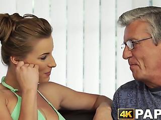 Youthful angel cheats boyfriend with older schlong hammering
