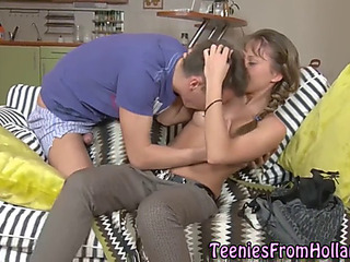 Dutch lawful age teenager acquires creampie