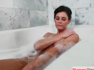 Smalltitted stepmom cockriding in taboo threesome