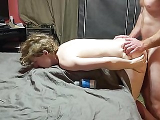 Petite Teen Gets Mouth Fucked, Pussy Fucked and Anally Fucked