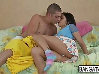 Sexy teen gets anal banged