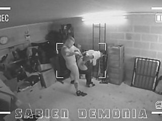 CCTV catches hot teen getting anally destroyed by crammer janitor