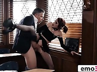 Petite Goth Teen Anally Penetrated All over Mishmash