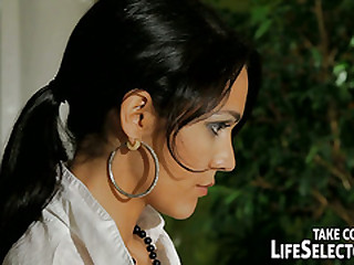 Kathia Nobil in her dirty fantasy, as a strict dominatrix makes her pretty maid, Samia Duarte to play her sex slave in a real kinky drag queen romp!