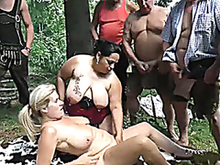 swinger fuck orgy in nature