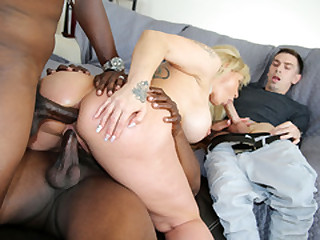 Busty Ryan Conner Gets DP'd by Black Dicks - Cuckold Sessions