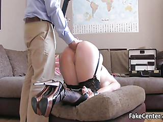 Submissive slut got ass trinket stuffed then fucked