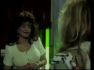 Superb blonde and hot brunette lick each other's pussies in 69 position in a difficulty first place a difficulty veranda