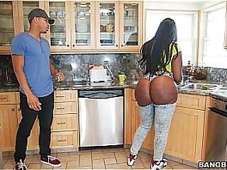 Ebony fat ass fucked