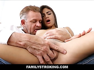 Young Sexy Thick Small Tits Latina Stepdaughter Michelle Martinez Pussy Licked To Orgasm By Roasting Stepdad