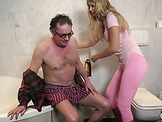 Sky pilot fucking y. in her tight virgin pussy